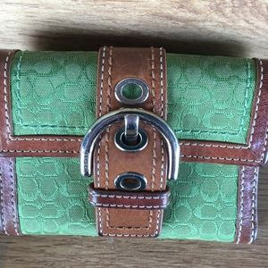 Coach small folded wallet